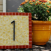 Mosaic Address Plaque, House Number Sign