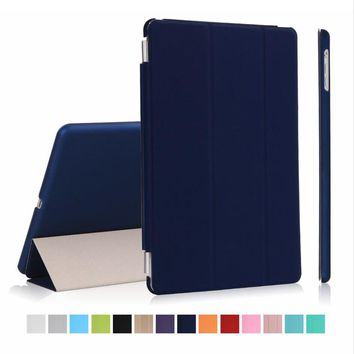 New mart Front Case Cover for Apple ipad Air 1 + Transparent Clear Back Case for ipad 5 retina Sleep Wake Up Features