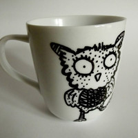 Hoot Coffee Hand Drawn Mug