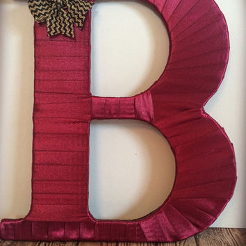 Fall Decor-Decorative Monogram Letter B by Tightly Wound Designs