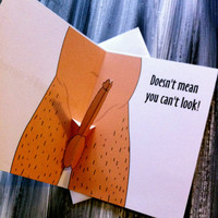 Adult Funny Pop Up Penis Bachelorette Greeting Card