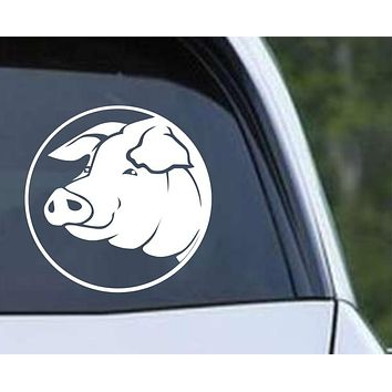 Pig Head (ver d) Die Cut Vinyl Decal Sticker