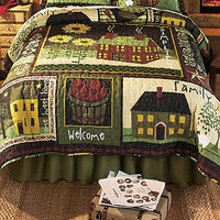 Simplify King Bed Quilt Primitive Country Charm Bedroom Decor