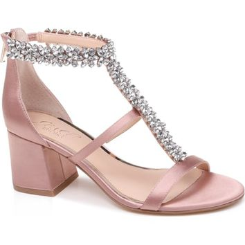 Jewel Badgley Mischka Janica Block Heel Sandal (Women) | Nordstrom