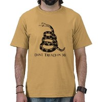 Dont Tread On Me T-Shirt from Zazzle.com