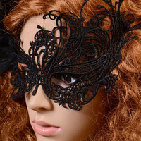 Black Halloween Masquerade Party Gothic Lace Mask