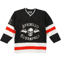 Avenged Sevenfold Men's  Hockey Jersey Black