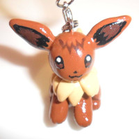 Eevee from Pokemon Charm Keychain, So Cute & Kawaii