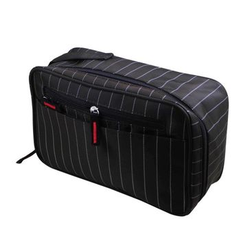 Xiniu cosmetic bag Men organizer Striped Waterproof Cosmetic Toiletry Kits Portable Digital Seismic Package Trousse De Toilette