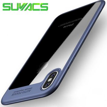 """SUYACS For iPhone 5 5S SE 6 6S 7 Plus X XS MAX XR Case Luxury """"Auto Focus"""" Letter PC & TPU Ultra Thin Shockproof  Cover Cases"""