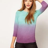 ASOS Dip Dye Jumper in Angora Mix at asos.com