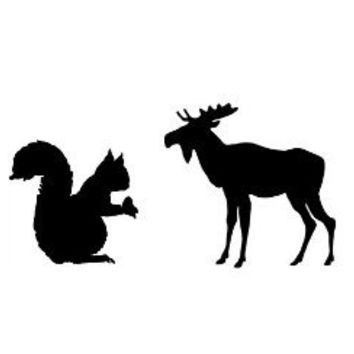 Supernatural Inspired Squirrel and Moose (Sam and Dean Reference) Decal - For Cars, Laptops, and Anything Else You Can Think Of!