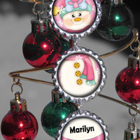 Personalized Christmas Tree Ornaments, Snowman Christmas Ornament, Christmas Tree Ornaments, Hand Crafted Christmas Ornaments