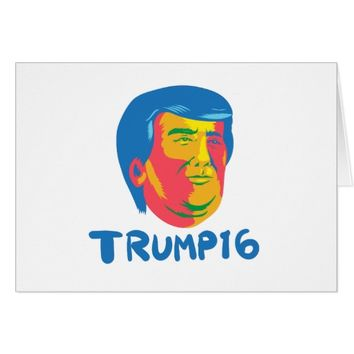 Donald Trump 2016 President Cartoon Card