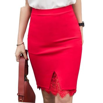 5XL Plus Size Skirt Formal Lace
