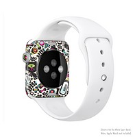 The Cute, Colorful One-Eyed Cats Pattern Full-Body Skin Set for the Apple Watch