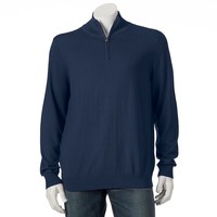 Croft & Barrow Classic-Fit 12gg Quarter-Zip Mockneck Sweater - Big & Tall, Size: