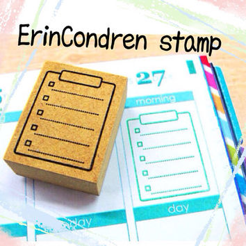Rubber stamp for your Filofax, Hobonichi techo,Erin Condren life planner, KikkiK , and calendar. Japanese style no.20