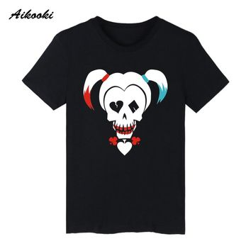 Suicide Squad Harley Quinn T-shirts Men Funny T Shirts Brand Cotton Famous Design High Quality Humor Simple Style Tee Shirts 3XL