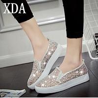 XDA 2017 new fashion Women Shoes Hollow-Out Flats Shoes Women Boat Shoes free shipping S435