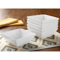 Better Homes and Gardens Square Bowls, White, Set of 6 - Walmart.com