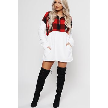 You're My Type Plaid Tunic (Red/White)