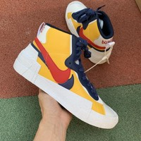 Sacai x Nike Blazer Mid Varsity Maize Midnight Navy/White/Varsity Red - Best Deal Online