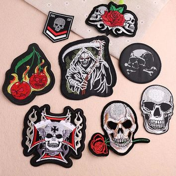 1 PCS Skull Embroidered Patches for Clothing