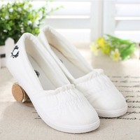 new ultra-comfortable casual canvas shoes flat shoes women shoes w342