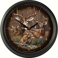 "Deer Collage 16"" Wall Clock"