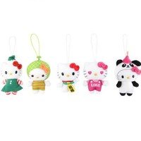 Hello Kitty 5 Pce Plush Ornament Set: Love