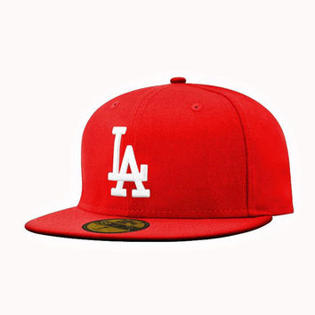 2016 Men LA cap Snapback Los Angeles Dodgers baseball blue embroidery sports team LA black Hip-Hop hat