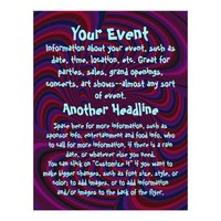 Spinning Top Abstract - All Purpose Personalized Flyer