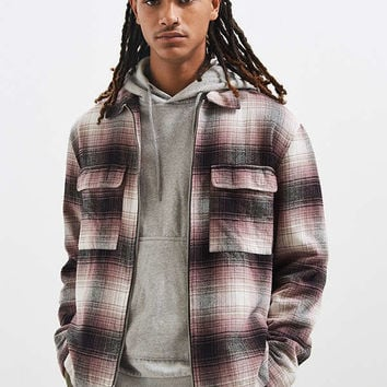 UO Ryder Zip Flannel Shirt | Urban Outfitters