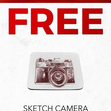 Christmas 2018 Free SC327 Vintage Sketch Camera Art Computer Mousepad Gift With Purchase
