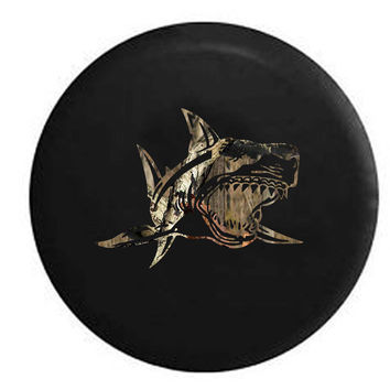 Great White Shark OEM RV Camper Jeep Spare Tire Cover