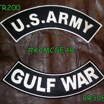 Military Patch Set U.S. Army Gulf War Embroidered Patches Sew on Patches for Jackets