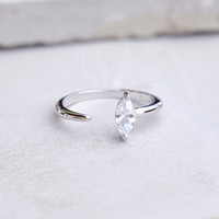 Marquis Ring - Silver