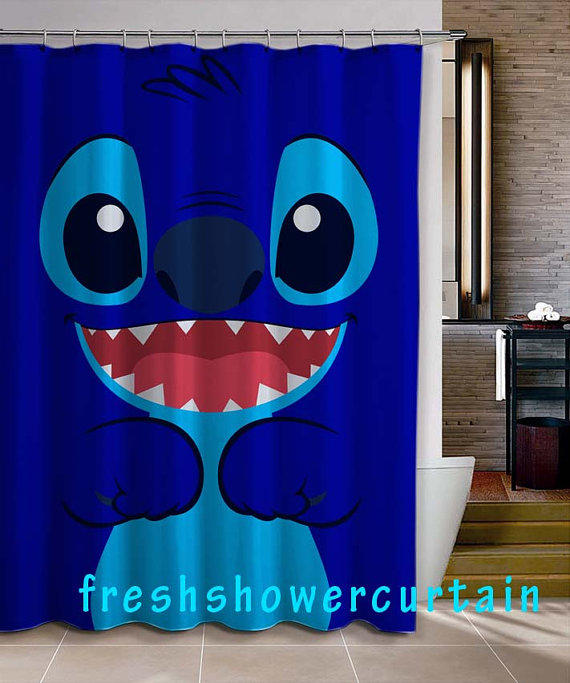 Lilo and stitch shower curtain from freshshowercurtain on etsy - App that puts santa in your living room ...