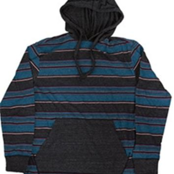 1897 Hooded Long Sleeve Knit T-shirt for Men in Ink Blue LH44031M