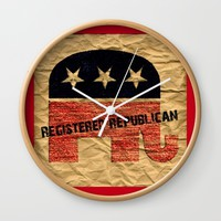 Conservative Wall Clock by Jessica Ivy