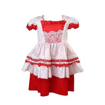 Baby Girls Floral Princess Lace Dress Baby Girl Christmas Ruffle Gown Dresses