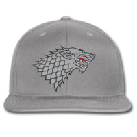 stark wolf game of thrones winter is coming snapback hat