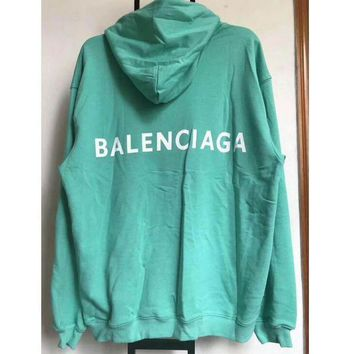 ONETOW balenciaga long sleeve hedging pullover sweater hoodies green i cn cfpfgys 2