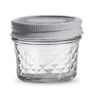 Quilted Jelly Jars, 4 oz., 12/case