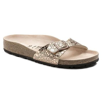 Best Online Sale Birkenstock Madrid Birko Flor Metallic Stones Copper 1006693 Sandals