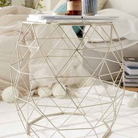 Geometric Metal Side Table- Bronze One