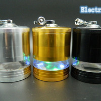 1 Pc Hot Sell Electric Light Metal Weed Grinder Herb Tobacco Crusher