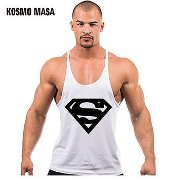 Superman Singlets Men Tank Top Shirt Bodybuilding Equipment Fitness Men's Golds Stringer Muscle Tops Vest