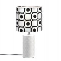 Modern Black And White Round Table Lamp